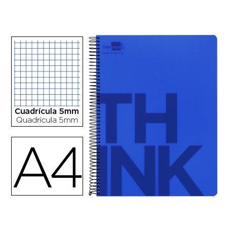 Bloc Din A4 Liderpapel serie Think cuadricula de 5 mm azul