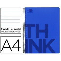 Bloc Din A4 Liderpapel serie Think rayado horizontal azul
