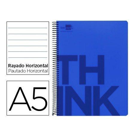 Bloc Din A5 Liderpapel serie Think rayado horizontal azul