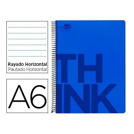 Bloc Din A6 Liderpapel serie Think rayado horizontal azul