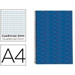 Bloc Din A4 espiral Microperforado Tapa forrada Multilider Liderpapel azul