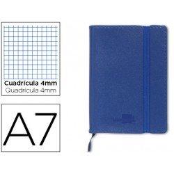 Cuaderno Liderpapel Din A7 encolada 120 hojas tapa simil piel
