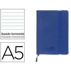 Cuaderno Liderpapel Din A5 encolada 120 hojas Tapa simil piel