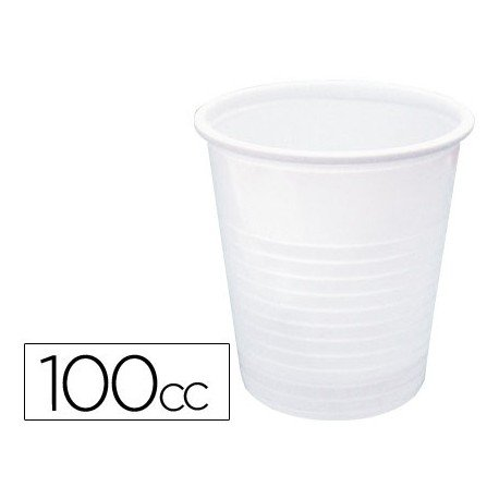 Vaso de plastico color blanco 100cc