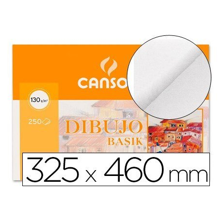 Papel dibujo marca Canson 325x460 mm 130g/m2