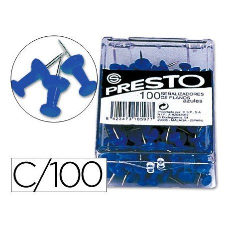 Señalizadores de planos azul Presto