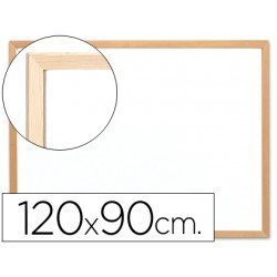 Pizarra Blanca de Melamina con marco de madera 120x90 Q-Connect