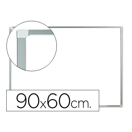 Pizarra Blanca Lacada Magnetica con marco de aluminio 90x60 Q-Connect
