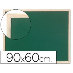 Pizarra Q-Connect verde marco de madera 90x60 cm