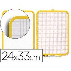 Pizarra blanca con doble cara 24x33 cm