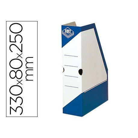 Revistero carton Fast Paperflow color azul