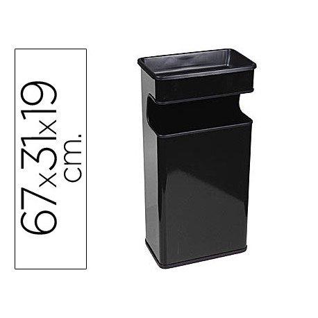 Cenicero papelera Sie negro 40 L metal