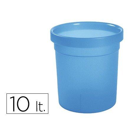 Papelera plastico Offisys azul de 10 L