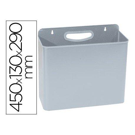 Papelera metalica de pared Sie de 12 L