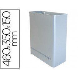 Papelera metalica de pared Sie de 24 L plata