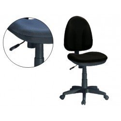 Silla de oficina giratoria con respaldo medio Q-Connect color negra