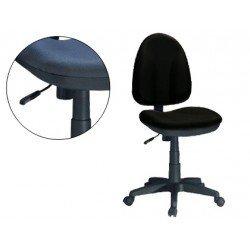 Silla de oficina giratoria con respaldo medio Q-Connect color negra