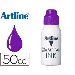 Tinta tampon marca Artline violeta de 50 cc