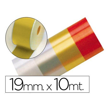 Cinta fantasia color oro 19 mm