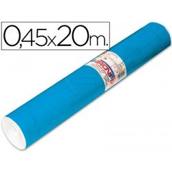 Aironfix Rollo Adhesivo 45cm x 20mt Unicolor Azul Mate Medio 100 MC