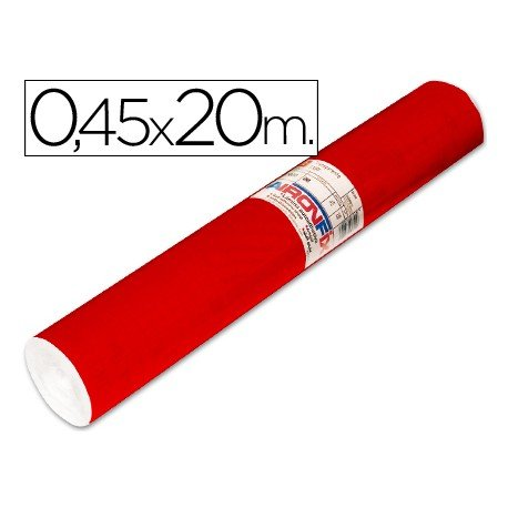 Aironfix Rollo Adhesivo 45cm x 20mt Unicolor Rojo Brillo 100 MC