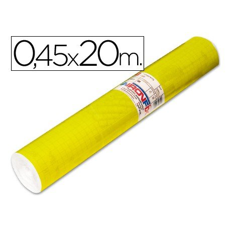 Aironfix Rollo Adhesivo 45cm x 20mt Unicolor Amarillo Brillo 100 MC