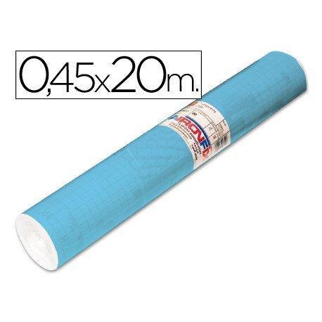 Aironfix Rollo Adhesivo 45cm x 20mt Unicolor Azul Mate Claro 100 MC