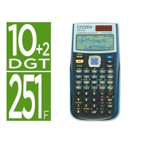 Calculadora Cientifica Citizen Modelo SR-270X 10+2 digitos
