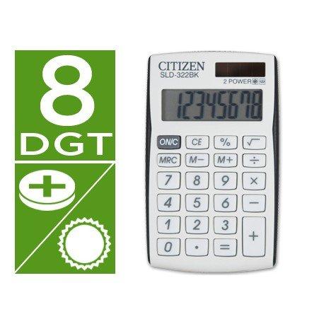 Calculadora Bolsillo Citizen Modelo SLD-322BK 8 digitos