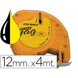 Cinta Dymo Letratag LT Amarillo Plástico