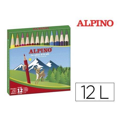 Lapices Colores de Alpino 652 Cortos