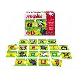 Puzzle didáctico de 3 a 5 años Las vocales Diset