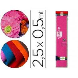 Papel crespon Liderpapel color rosa fuerte