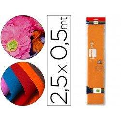 Papel crespon Liderpapel color naranja claro