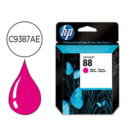 Cartucho HP 88 color magenta C9387AE