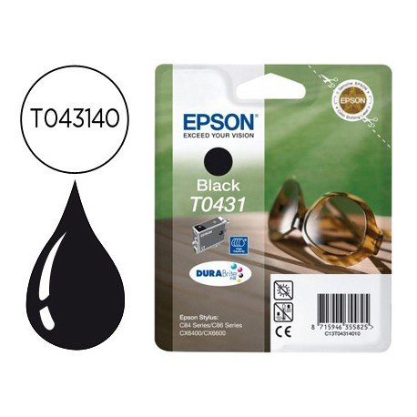 Cartucho Epson T043140 Negro ,T044, T045