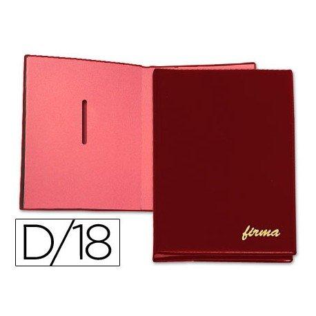 Portafirmas plastico Pardo 18 departamentos color Burdeos