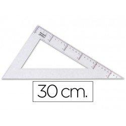 Cartabon de plastico cristal Liderpapel 30 cm