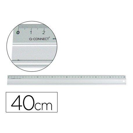 Regla metalica aluminio Q-Connect