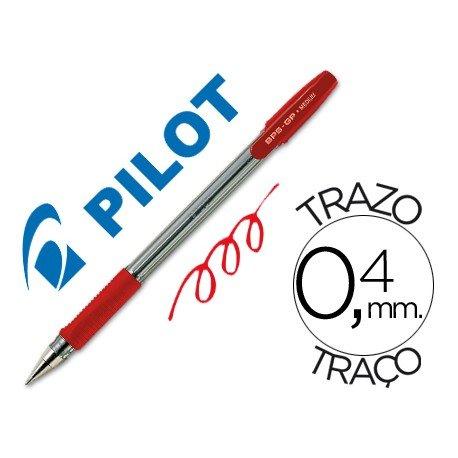 Boligrafo Pilot BPS-GP Rojo 0,4 mm