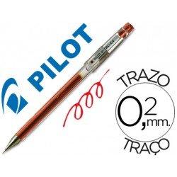 Boligrafo marca Pilot punta aguja g-tec-c4 rojo