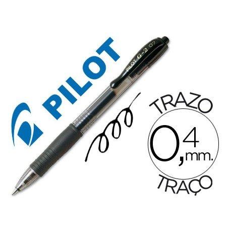 Boligrafo Pilot G-2 Negro 0,4 mm