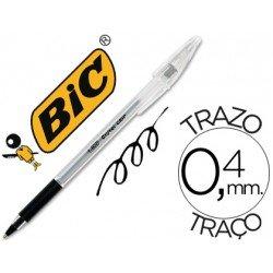 Boligrafo Bic Cristal Grip Negro 0,4 mm