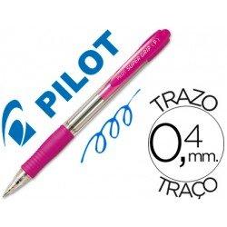 Boligrafo Pilot Super Grip Rosa tinta azul