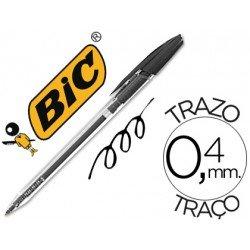 Boligrafo Bic Cristal Clic negro 0,4 mm