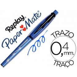 Boligrafo Borrable Replay Max Papermate 0,4 mm color Azul