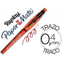 Boligrafo Borrable Replay Max Papermate 0,4 mm color rojo