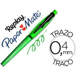 Boligrafo Borrable Replay Max Papermate 0,4 mm color verde