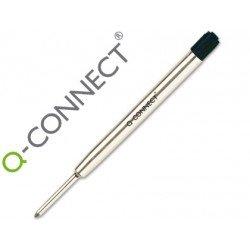 Recambio bolígrafo Q-Connect tipo parker negro