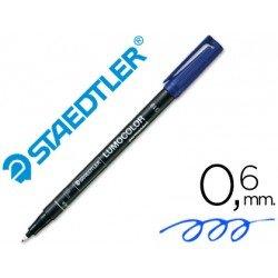 Rotulador Retroproyección Permanente Staedtler Lumocolor 318 Color Azul Punta Superfina Redonda